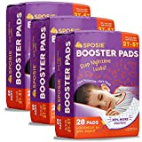 Sposie Overnight Diaper Booster Pads with Adhesive for Pull-on Diapers | Nighttime Leak Protection...