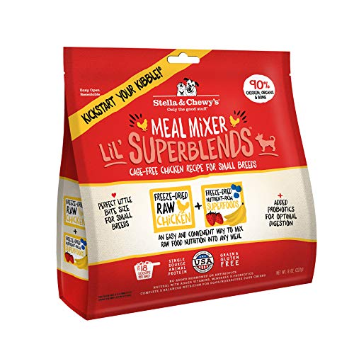 Stella & Chewy's Freeze-Dried Raw Cage-Free Chicken Meal Mixer Lil' SuperBlends Dog Food Topper, 8 oz. Bag