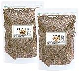 自然健康社 レンズ豆 1kg×2袋 チャック付き袋入り