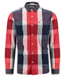 Hilfiger Denim Men's THDM REG BIG CHECK SHIRT L/S 41 Regular Fit Long Sleeve Casual Shirt, Black (Black Iris), M