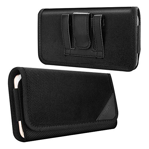 MoKo Handy Gürteltasche, Universal Nylon Quertasche Klettverschluss Kompatibel mit 6.5