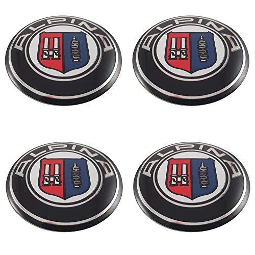 LUDOSTREET ref0009 (X4) Logo Emblem Abzeichen Anagramm Felgenrad Auto Auto Kompatibel mit BMW 68mm 5 Pins (Alpina)