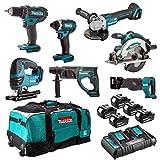 Set di 7 macchine DSS610 + DTD152 + DDF482 + DGA504 + DHR202 + DJR186 + DJV180 MAKITA DLX7013PT1