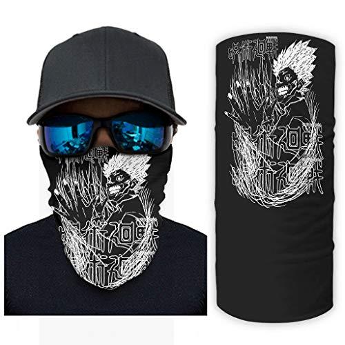 CCMugshop Balaclava Mask Jujutsu Kaisen Sukuna Fan Art Print Neck Gaiter UV/Dust White One Size