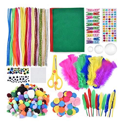 DLYDSSZZ Matières de Bricolage, Kits de matériaux artisanaux à la Main, Boule de Cheveux Tissu Non tissé Kit DIY Kit Kindergarten Fun Puzzle Handicraft (Color : -, Size : -)