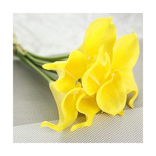 Ramo de flores artificiales de cala para decoración del hogar, boda, ramo de novia con tacto real, 10 unidades por lote…