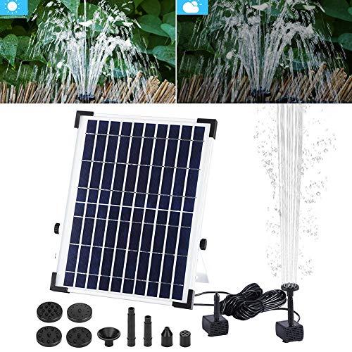 Fontein op zonne-energie voor vogelbad fontein 10 W set zonnepaneel pomp fontein water voor zwembad vijver tuin aquarium