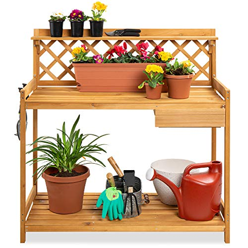 Awe Inspiring Best Choice Products Potting Bench Outdoor Garden Work Creativecarmelina Interior Chair Design Creativecarmelinacom