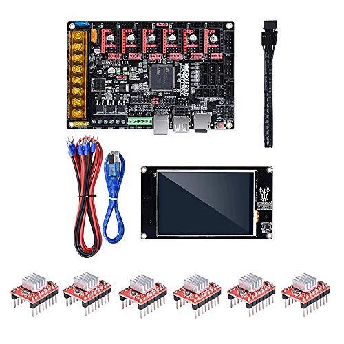 LiangDa Carte Mère D'imprimante 3D Imprimante 3D Partie Partie V1.1 Control Board + TFT35 V2.0 écran Tactile + 6Pcs A4988 Driver Kit (Color : Black, Size : One Size)
