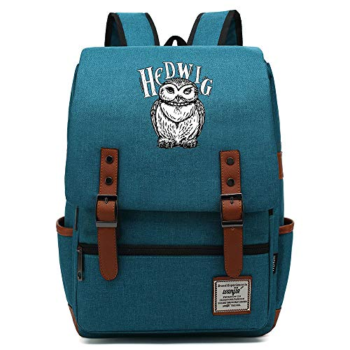 NYLY backpack per bambini Junior High School Studente Borsa Harry Potter's Owl Rucksack Unisex Grande Ocean Blue B