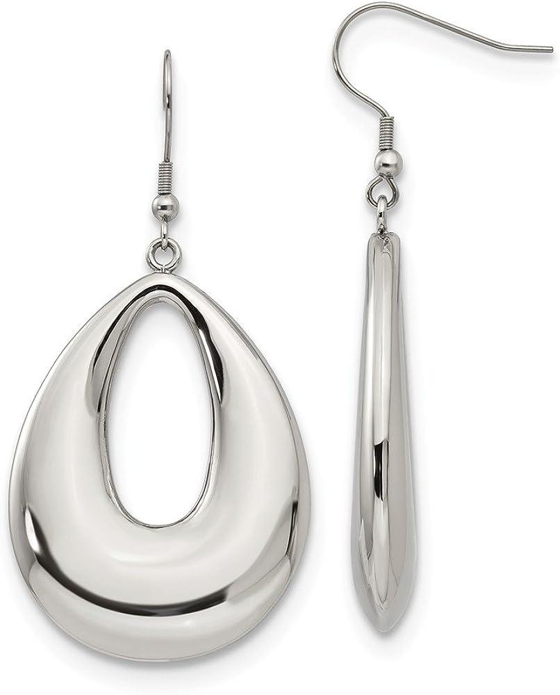 Stainless Steel Teardrop Drop Dangle Chandelier Shepherd Hook Earrings Fashion Jewelry For Women Gifts For Her