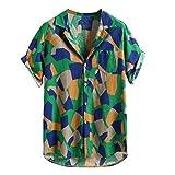 (C08,XL)メンズ シャツ 七分袖 ワイシャツ 穿きやすい 綿麻 カジュアル クールビズ リネンシャツ 大和風 通気 清涼 無地 純色 簡約スタイル