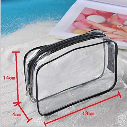 Huien Transparante PVC-tas Reisorganisator Duidelijke schoonheidsspecialiste Cosmetische tas Beautycase Toilettas Make-up tasje toilettas, S