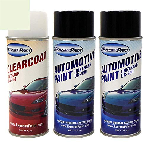 ExpressPaint Aerosol - Automotive Touch-up Paint for Cadillac All - White Diamond Pearl Tri-Coat 93/WA8933 - Color + Clearcoat Package