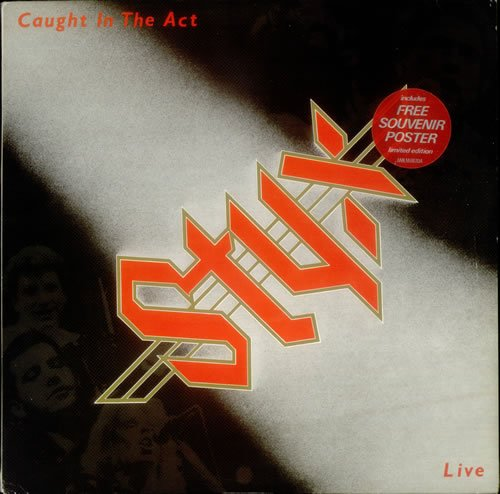 CAUGHT IN THE ACT LIVE VINYL LP FREE POSTER[AMLM66704]1984 STYX