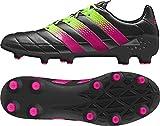 adidas Herren Fussballschuhe ACE 16.1 FG/AG Leder CBLACK/SGREEN/SHOPIN 41 1/3