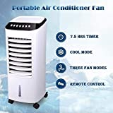 TUTU Climatiseur Portable,Refroidisseur d'air évaporatif de Bureau Silencieux de 65...