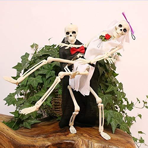 MHBY Halloween Decoration, 40cm Halloween Skeleton Plastic Human Skeleton Anatomical Model of Halloween Party Haunted House Decoration Props Skeleton Party DIY Decorations