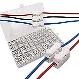 senven morsettiera terminale a molla rapida 63pcs 10a, connettore a molla per connettore rapido,connettore, collegamento per cablaggio elettrico e alimentazione illuminazione, ch2-56pcs ch3-7pcs