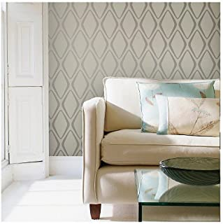 Tempaper Mirage and Sterling Diamond | Designer Removable Peel and Stick Wallpaper