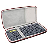 Asafez Hard Carrying Case Compatible with Logitech K380 Multi-Device Bluetooth Keyboard