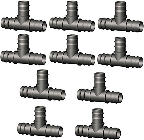 T-stuk connector, verdeler, overgangsstuk, 10 stuks