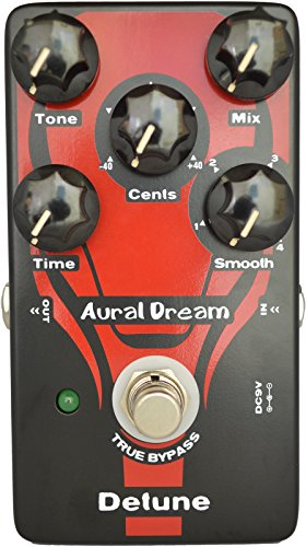 Aural Dream Detune Guitar Pedal with 4 modes detune effects and 4 adjustable Cents pitchshifter,similar to Chorus,True bypassMEHRWEG