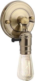 Portalámparas E27 con interruptor, Base de lámpara Vintage, Aplique industrial