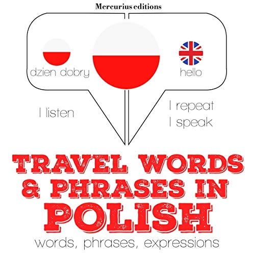 Travel words and phrases in Polish audiobook cover art