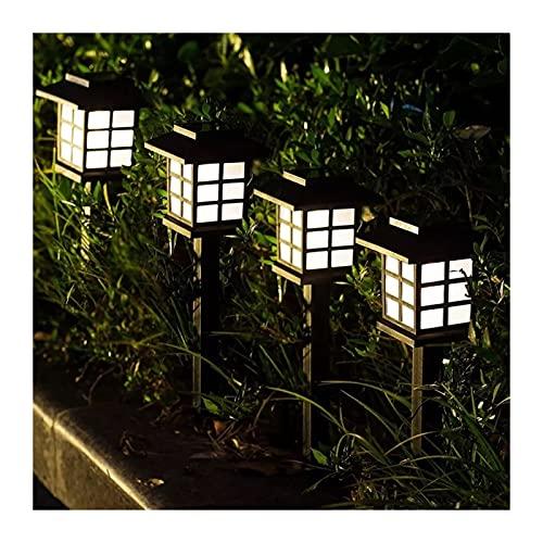HKLY Luz solar de suelo IP68 Lámparas de césped, luces de camino, al aire libre, impermeable, para jardín, paisaje, camino, patio, entrada (color emisor: luz cálida)