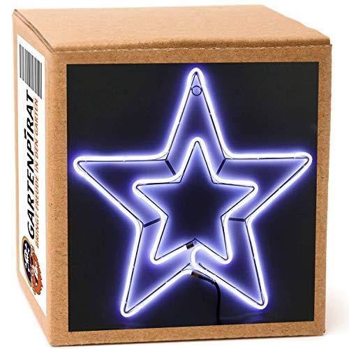 Neon-Lichtschlauchfiguren mit LED beleuchtet zur Deko Weihnachten außen (Stern 54x54)