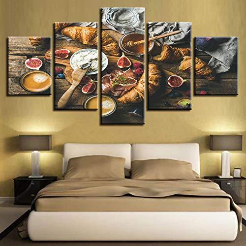 Muurkunst Voor Woonkamer Schilderij Modulair Landschap Frameloze Brood Eten Abstract Schilderij Woondecoratie Canvas Olieverf Muurschildering
