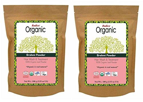radico Brahmi de hojas polvo 2unidades) (2x 100g) Bacopa monnieri (bio, Vegan) X2
