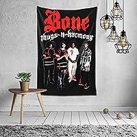 タペストリー Bone Thugs-N-Harmony ボーン・サグスン・ハーモニー 個性 壁掛け布 部屋 寮 ホームステイ窓 壁 装飾用品 多機能 ブランケットカーテン ビーチタオル インテリア,(100 X150 Cm)
