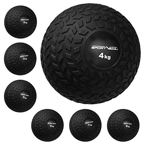Slam Ball - Palla medica in gomma, peso 2 – 8 kg, con superficie antiscivolo, diametro 23 cm, per allenamento sportivo (5 kg)