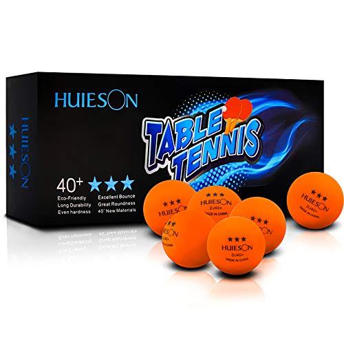 Senston Palline da Ping Pong, Palline da Ping Pong a 3 Stelle, Dimensioni Ufficiali 40 mm, Confezione da 10 Palline da Ping Pong per Allenamento avanzato