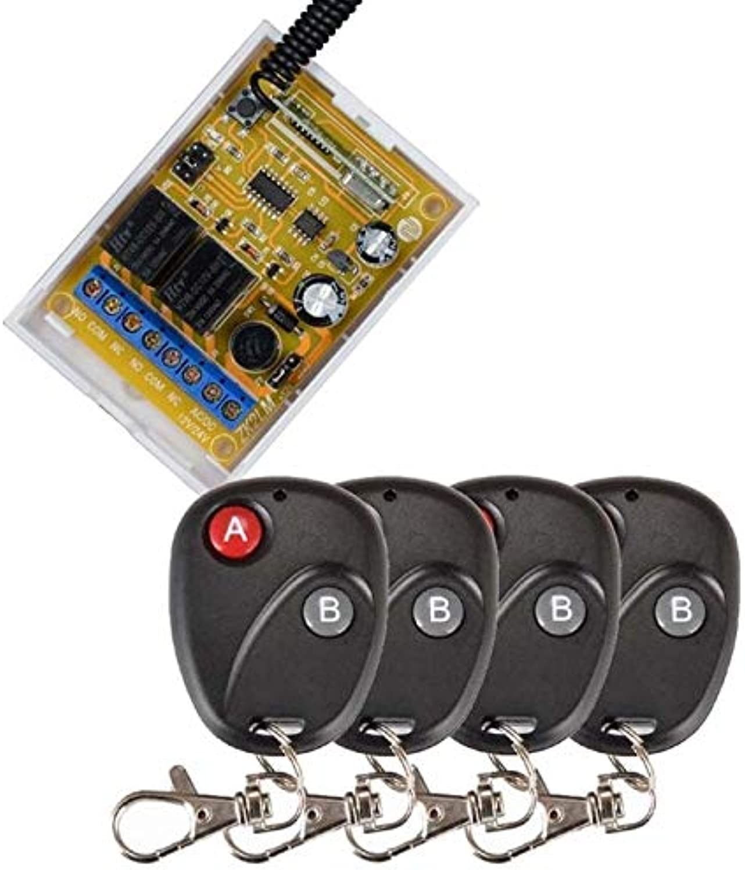 12V 24V 2CH RF Wireless Control Lighting Switch System Transmitter