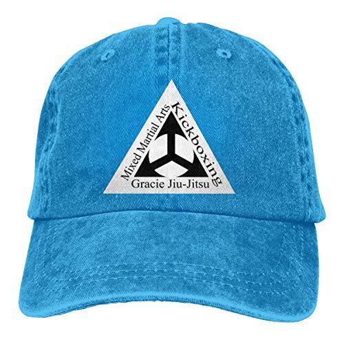Yuanmeiju Gorra de Mezclilla Gracie Jiu Jitsu Academy Logo...