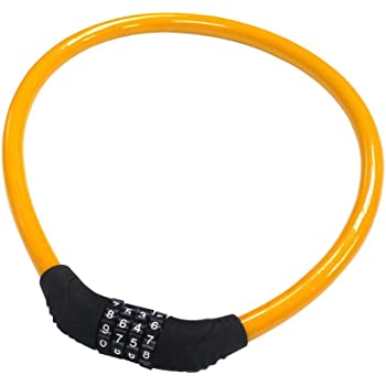 vilobyc Bike Lock 5-Digit Combination Lock Core Steel Wire Bike Lock Security /& Portable Bicycle Locks 4 Feet x 1//2 inch