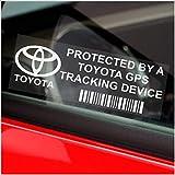 5 x TOYOTA GPS Tracking Device Security WINDOW Stickers 87x30mm-Avensis,Yaris,Corolla,RAV4,Prius-Car,Van Alarm Tracker