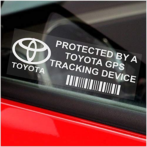5 x TOYOTA GPS Tracking Device Security WINDOW Stickers 87x30mm-Avensis,Yaris,Corolla,RAV4,Prius-Car,Van Alarm Tracker