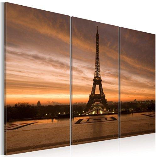 murando - Cuadro en Lienzo 120x80 - Impresión de 3 Piezas Material Tejido no Tejido Impresión Artística Imagen Gráfica Decoracion de Pared Paris 030219-1
