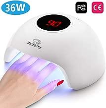Nail Lamp UV LED Nail Dryer, 24W Nail Polish Curing Lamp with 3 Timer Setting, Automatic Sensor Nail Dryer Lamp with LCD Display Memory & Pause Timer Function for Fingernail & Toenail Nail Art (White)