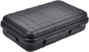 BESPORTBLE EDC Tool Box Plastic Tool Case Shockproof EDC Organizer Waterproof Survival Kit Storage Case Handheld Size for Outdoor Accessories (Black)