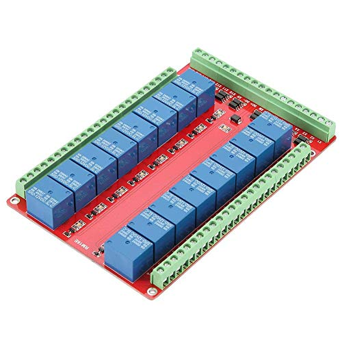 KEKEYANG 16 Channel Relay Module, Isolated Type 16 Channel Relay Module Interface Board High/Low Level Trigger DC 5/12/24V(#1) Controller Board