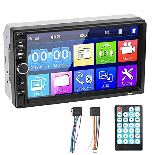MuChangZi 7 Inch 2 Din HD Autoradio MP5 Touchscreen Spiegel Link Audio Stereo Bluetooth met TF/SD/AUX/USB-poort Autoradio+Afstandsbediening