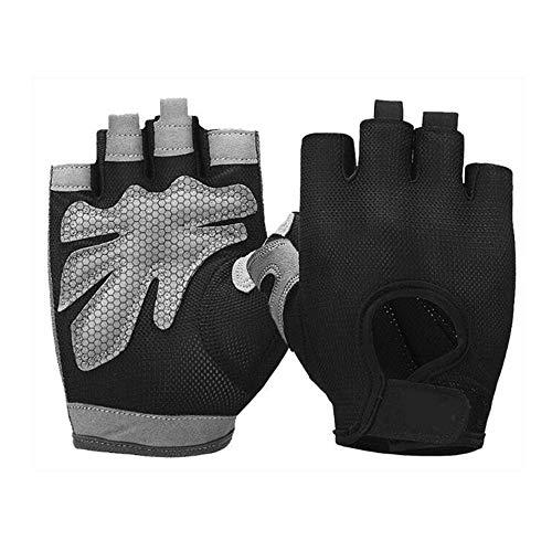 YUZZZKUNHCZ Guantes para mujer de levantamiento de pesas, guantes de gimnasio, transpirables, para entrenamiento, deportes, guantes de ciclismo, blanco, negro, rosa (color: blanco, tamaño: I)