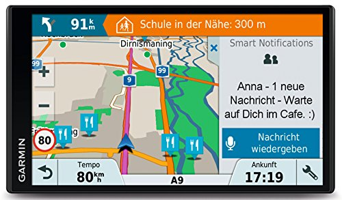 Garmin DriveSmart 61 LMT-D CE Navigationsgerät (17,65 cm (6,95 Zoll) Touchdisplay, Zentraleuropa (Traffic via DAB+ oder Smartphone Link) lebenslang Kartenupdates & Verkehrsinfos, Smart Notifications)