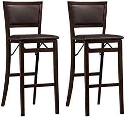 Amazon.com: Coaster Leather-Look - Silla de bar (2 piezas ...