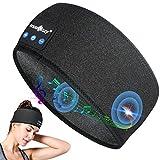 Sleep Headphones Bluetooth Headband, Wireless Sports Headband Headphones with Ultra-thin HD Headphones for Sleeping, Long Time Play Noise Cancelling Headphones for Side Sleeper, Workout, Running, Yoga